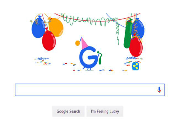 محرك البحث جوجل يحتفل بالذكرى 18 لإنشاءه