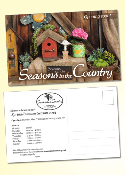 Seasons In The Country, Thunder Bay, postcards