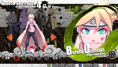 Now I will share mod texture for Naruto Shippuden Ultime Ninja Impact PPSSPP game Download Mod Texture Naruto Sage [Boruto Fake Sage Ver] for NSUNI