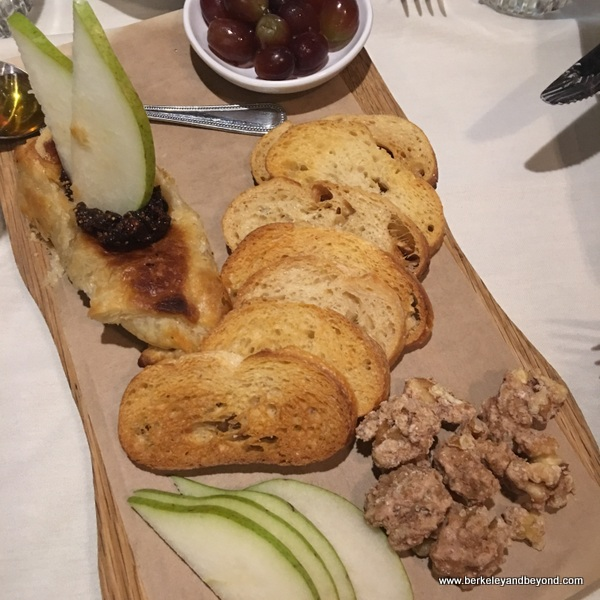 baked Brie platter at Kitchen 428 in Woodland, California