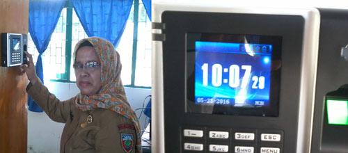 Pemasangan Finger Print di KUA Kecamatan Saparua