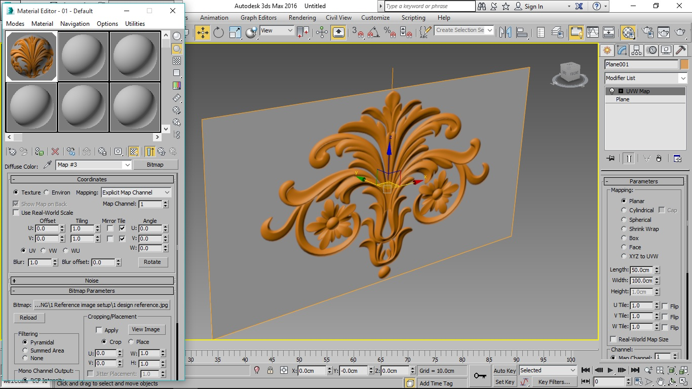 3d carving: Reference Image Setup