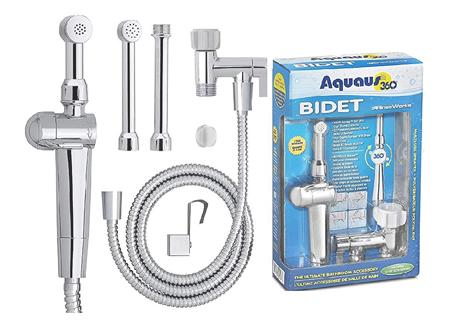 image of bidet packaging and individual parts
