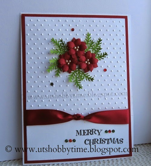 Uts hobby time christmas card and handmade for Handmade christmas cards