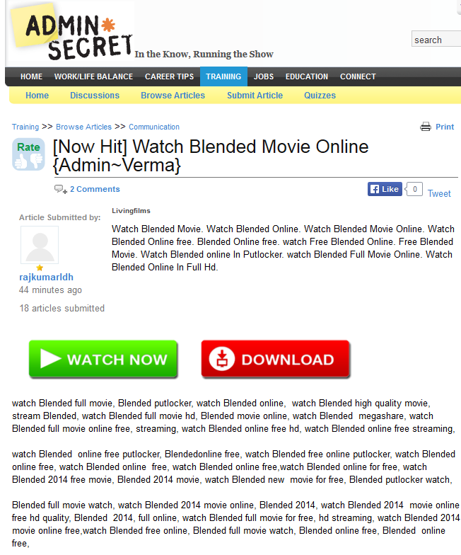 Dynamoo's Blog: adminsecret monster com abused by spammers