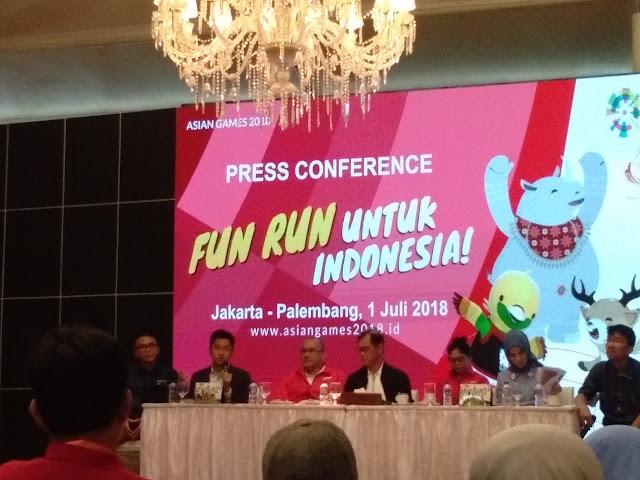 Gelorakan Asian Games 2018, Palembang Gelar FUN RUN