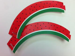 Watermelon Cupcake Wrapper by Kims Kandy Kreations