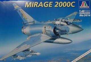 maquette du mirage 2000C d'Italeri au 1/48.
