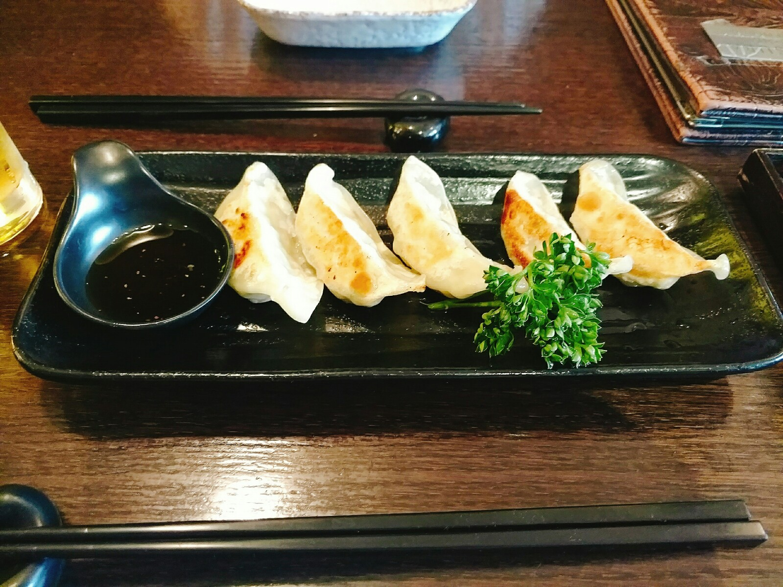 Meat Gyoza at Matsuba