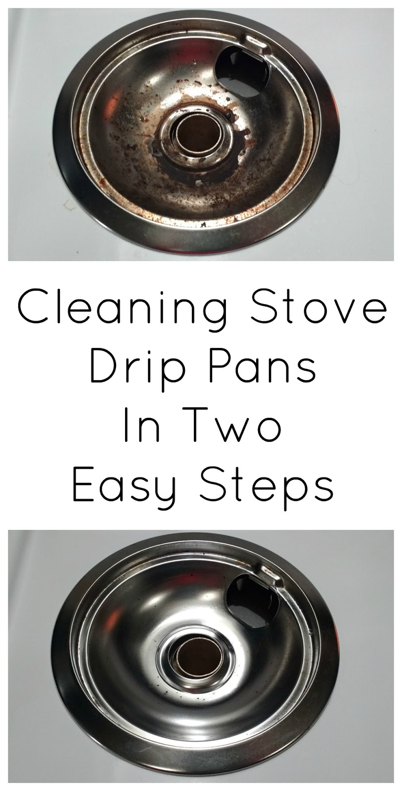 Stove Drip Pans. I Replaced Black Enamel Pans For Chrome Pans ...