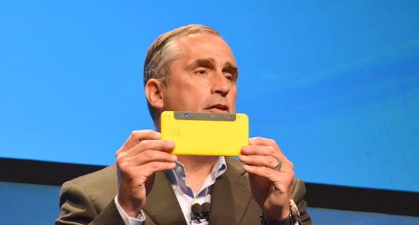 Intel CEO Brian Krzanich with RealSense prototype
