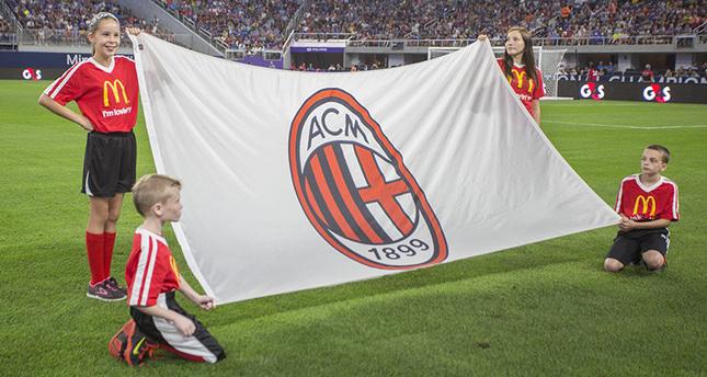 Kids Holding AC Milan Flag