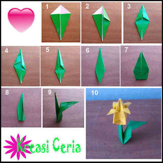how to make origami lily paper flowers - YouTube | 320x320