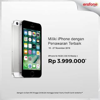 Penawaran Terbaik iPhone 5s Rp 3.999.000 dengan cicilan 0% Selama 2 Tahun