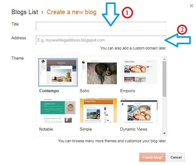 Tiến hành tạo blog cá nhân với nhiều giao diện đẹp từ blogger