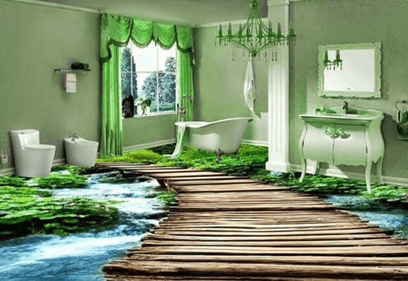 Decoração-banheiro-piso-floresta