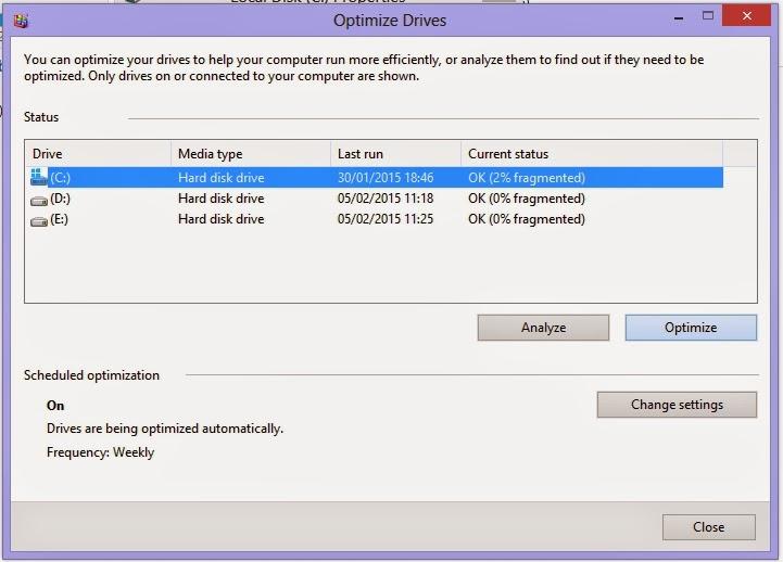Cara Defragment Hardisk Windows 8