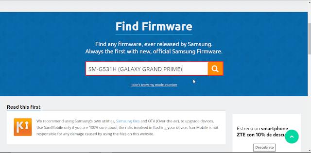 buscar firmware samsung