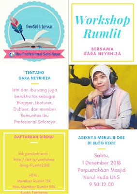 Workshop Blogging Bersama Ibu Profesional Solo Raya