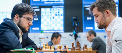 Le Français Maxime Vachier-Lagrave termine loin à 9,5 points sur 15, défait par Vladislav Artemiev lors de la ronde 14 - Photo © Lennart Ootes