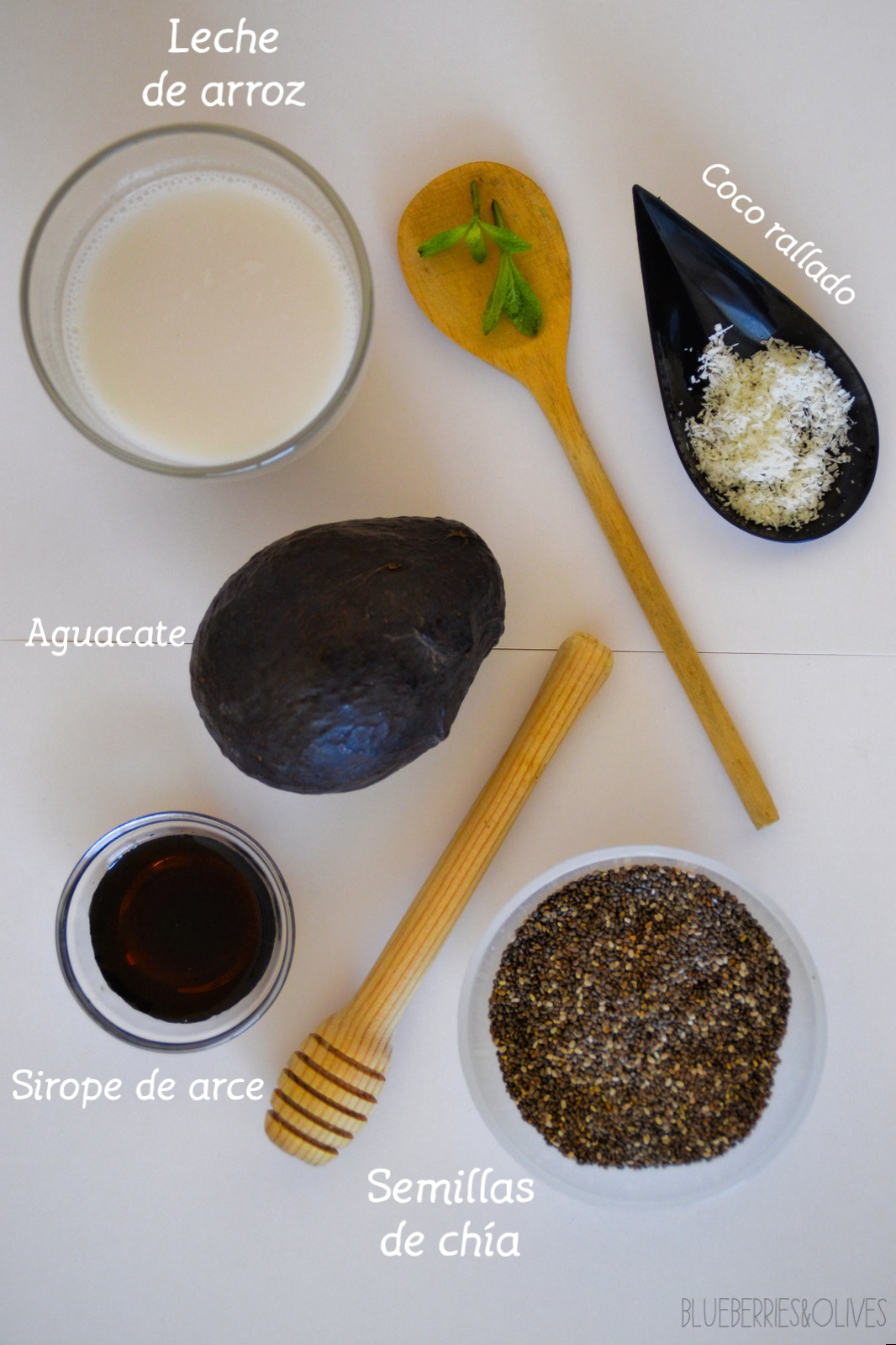 Ingredientes - Pudding the chia y aguacate 3