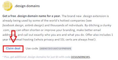 Cara Mendapatkan Domain Design Gratis4