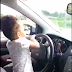 See shocking video of 3-year-old girl driving on a busy road