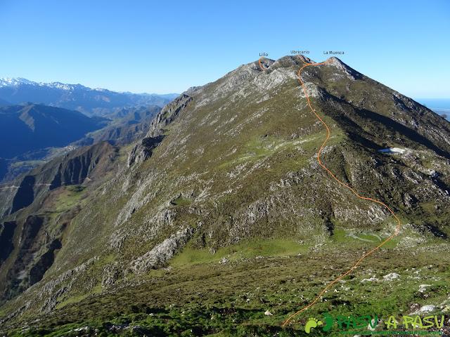 Camino a la Muesca, Ubricario y Pico Liño en la Sierra del Cuera