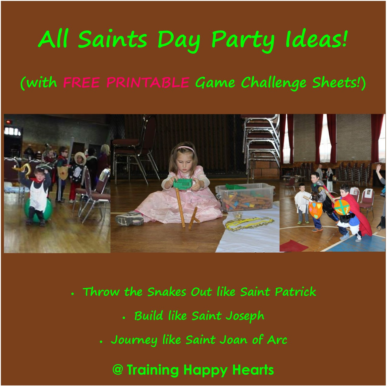 Training Happy Hearts 3 More All Saints Day Party Ideas