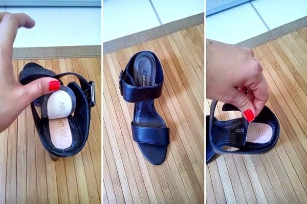 3490f28e4 Palmilha de sapato se descolou e revelou marca concorrente. Cliente  descobriu e publicou um desabafo indignado no Facebook.