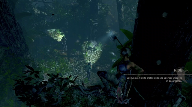 Shadow of the Tomb Raider flashlight rifles Lara Croft stealth tree