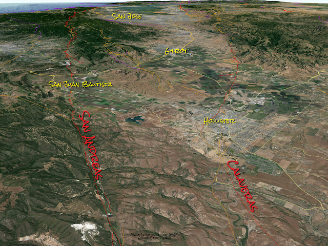 calaveras fault hollister california geology travel sanandreas fault earthquake hazards