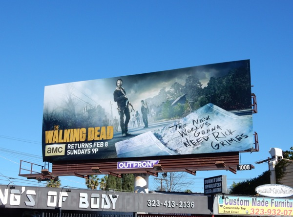The Walking Dead midseason 5 billboard