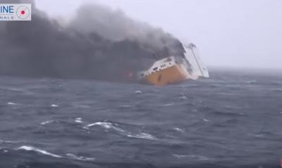 2000 سيارة تغرق فى المحيط الأطلسي .. بينهم 37 من طراز بورش
