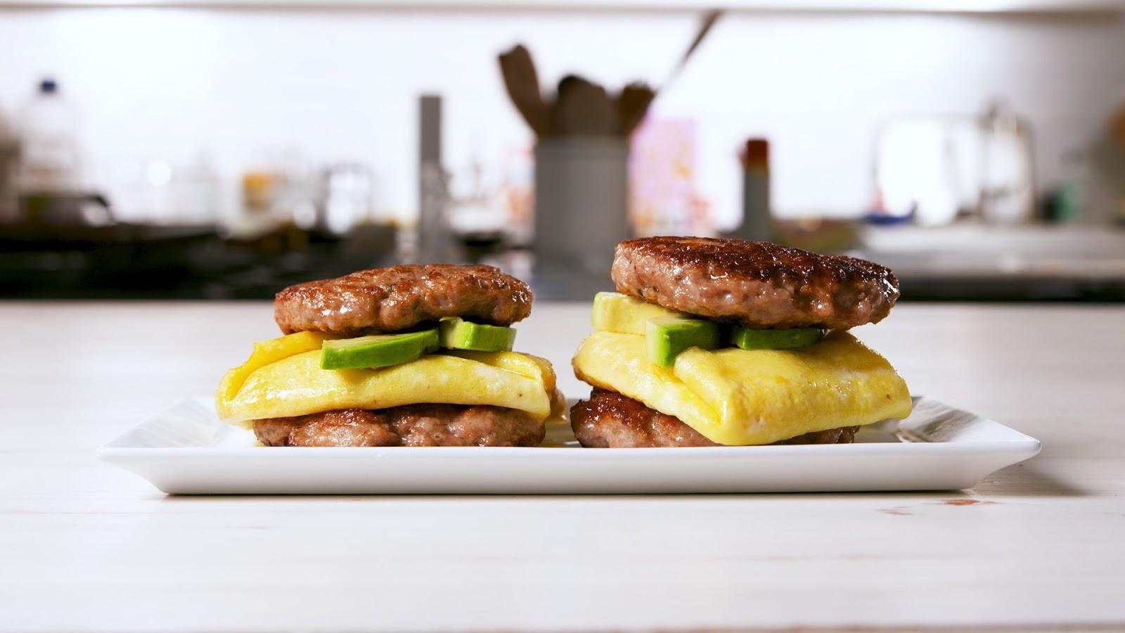 Keto Sausage Breakfast Sandwich