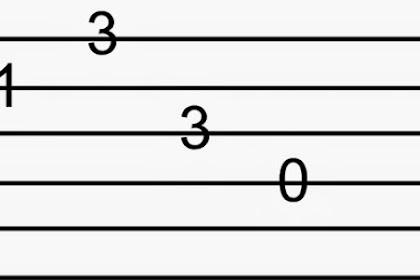 Cara Membaca Tab Gitar Untuk Pemula Dengan Mudah