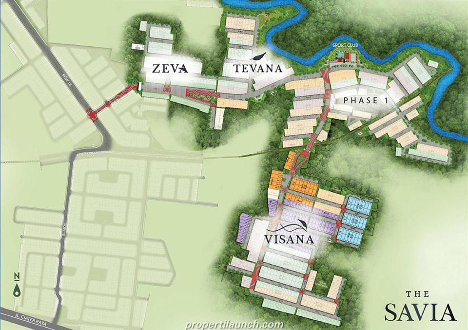 Site Plan Cluster Savia BSD
