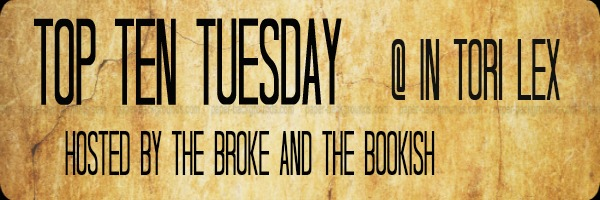 Top Ten Tuesday, Broke and Bookish, InToriLex, Weekly Feature, Thanksgiving