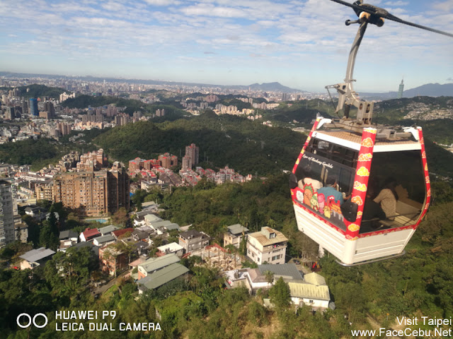 Aerial view from our cable car, amazing!
