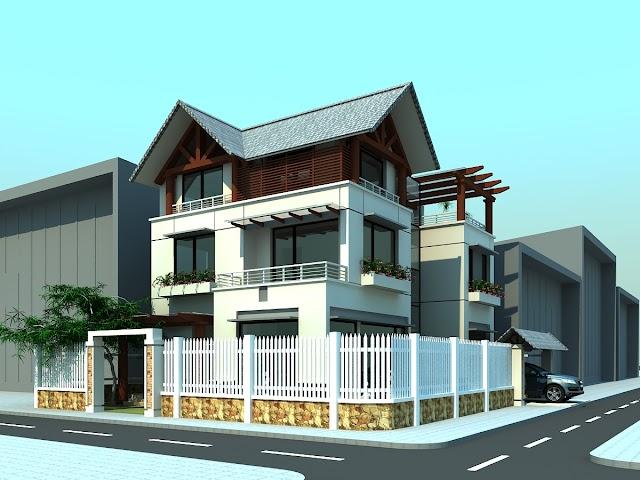 Chia sẽ hồ sơ thiết kế biệt thự 3 tầng mái thái ở Ninh Bình tuyệt đẹp