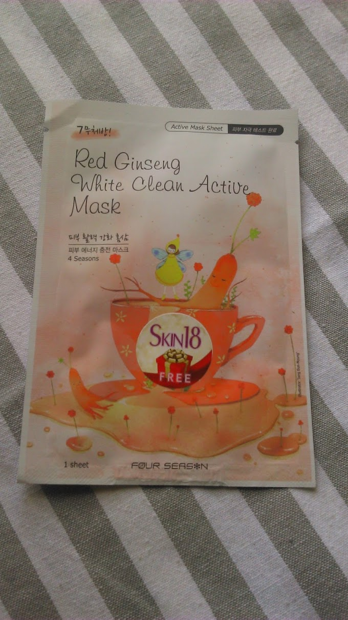 Four Season Red Ginseng White Clean Active MaskReview
