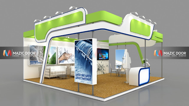 3 side open Exhibition Stall design-1