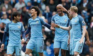 Manchester City Kevin De Bruyne, Otamendi, Leroy Sane