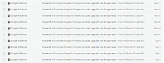 Email Penolakan Dari Google Adsense karena masalah Scrapted Content dan Under Construction