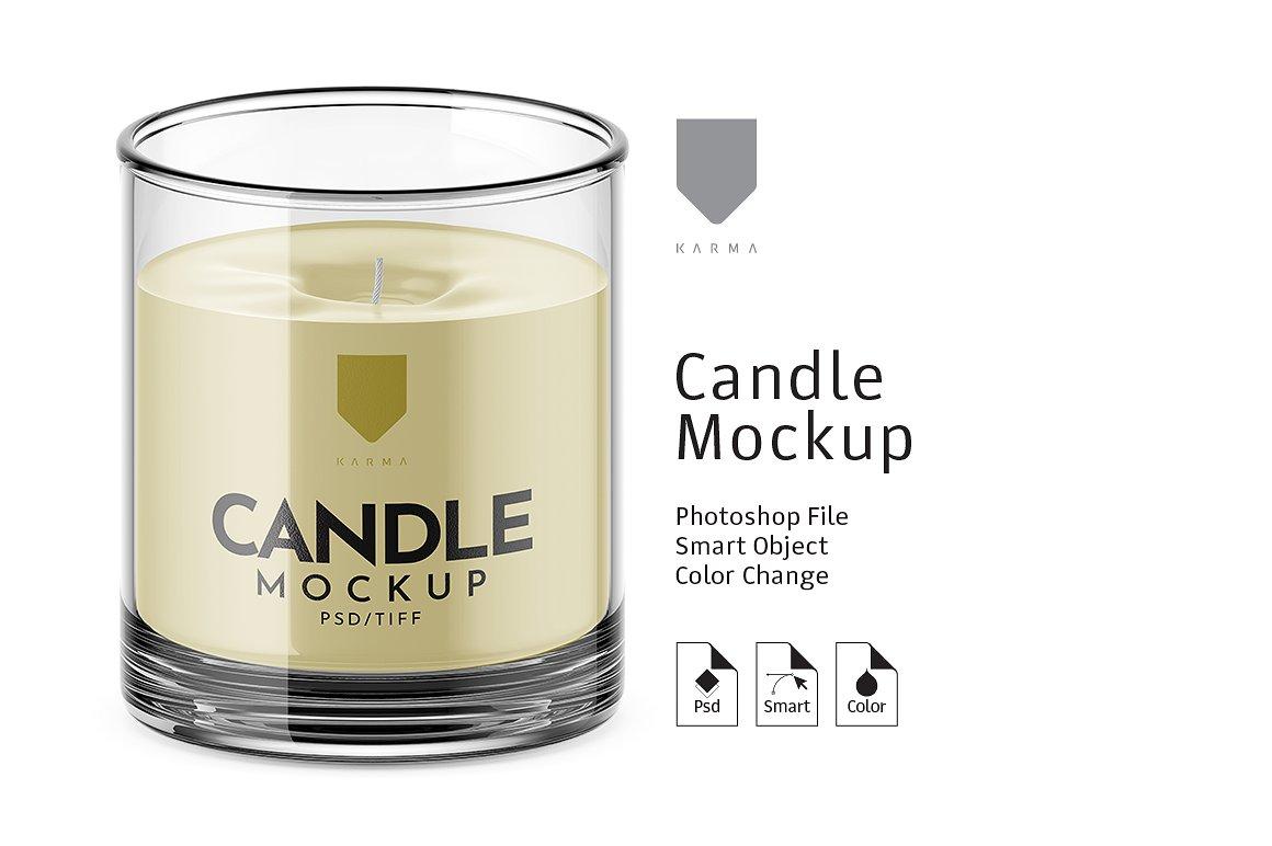 Candle Premium Mockup
