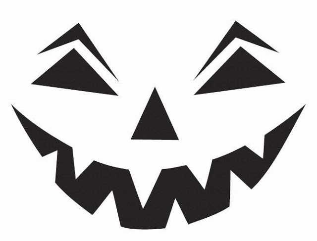 Download Easy Halloween Pumpkin pattern templates stencils