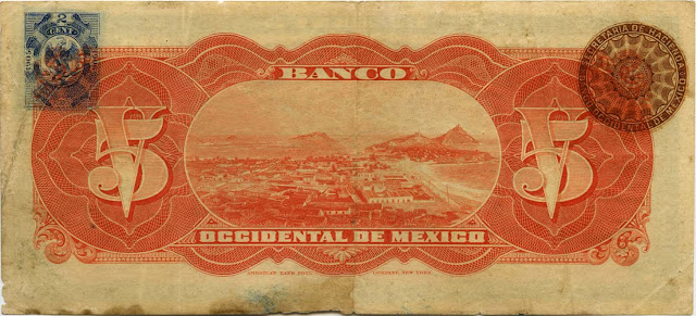 Banco Occidental de Mexico 5 Pesos