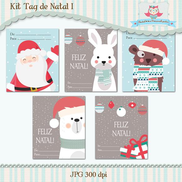 arte digital, kit digital, natal, papai noel, presente, personalizada, tag, etiqueta