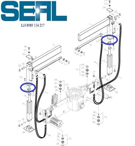 Valve chống lún chân cần cau kanglim 3 tan KS735-KS734-KS733-S1140750