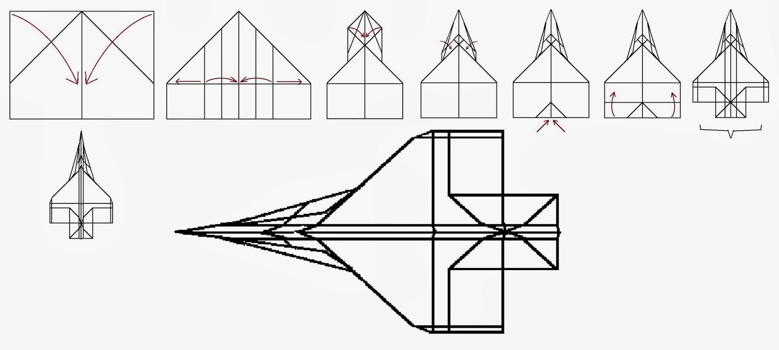 Avión de papel Wing 48